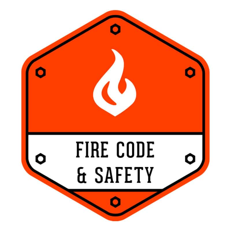 Fire code and safety